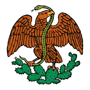 14299391 - color eagle and snake from mexican flag